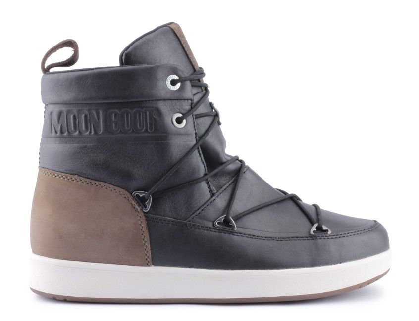 obuwie sportowe moon boot neil lux black brown