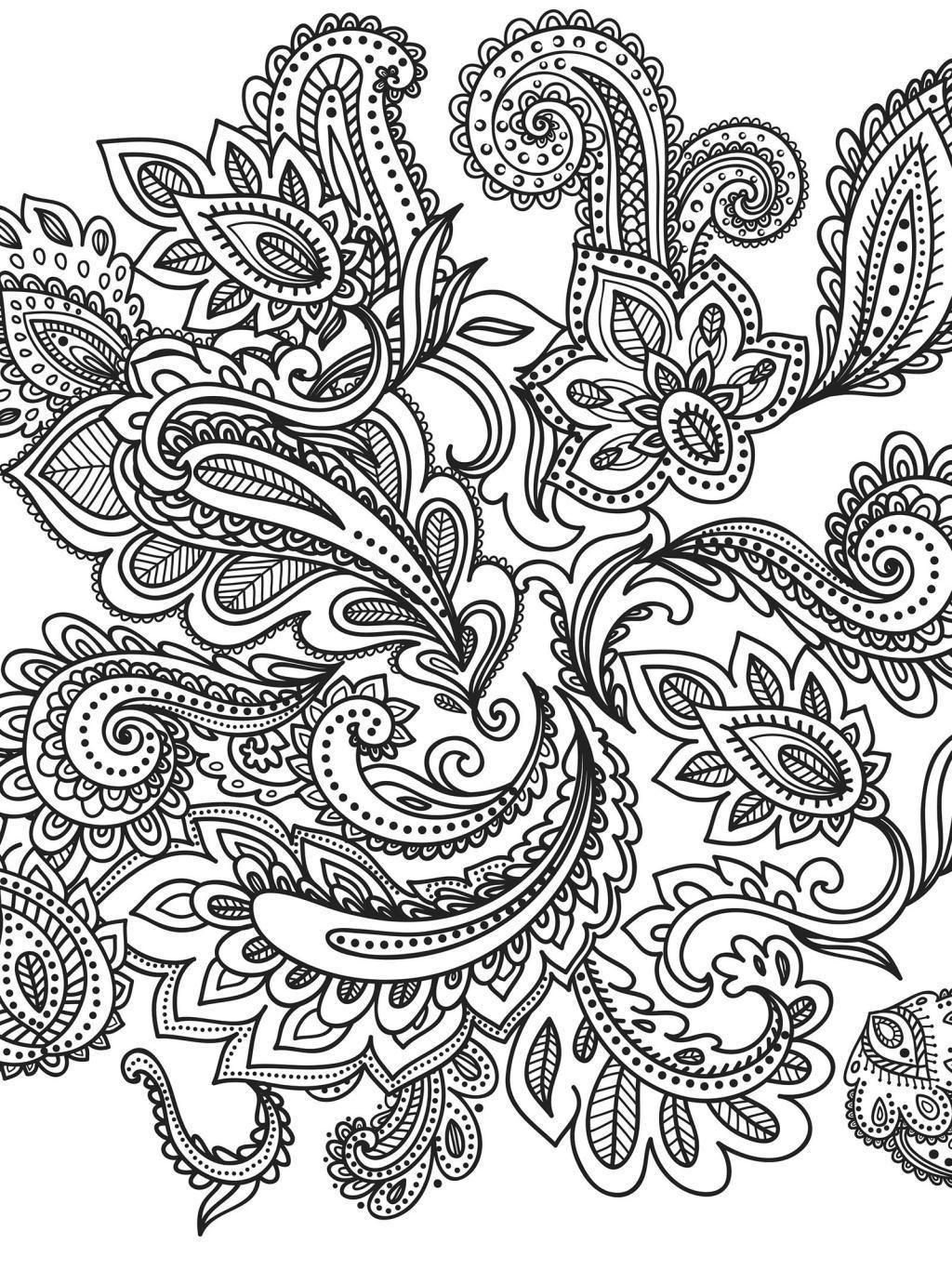 Schwere Ausmalbilder Blumen : Pid16233638_05 Jpg 1024 1366 Paisley Pinterest Ausmalbilder