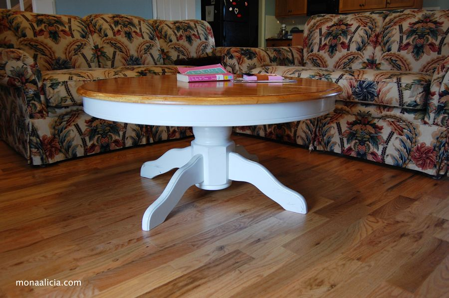 Best Tutorial On DIY Pedestal Coffee Table From Monaalicia