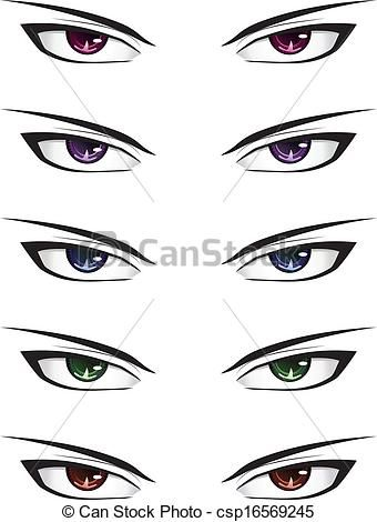 Anime Male Eyes Csp16569245 How To Draw Anime Eyes Manga Eyes