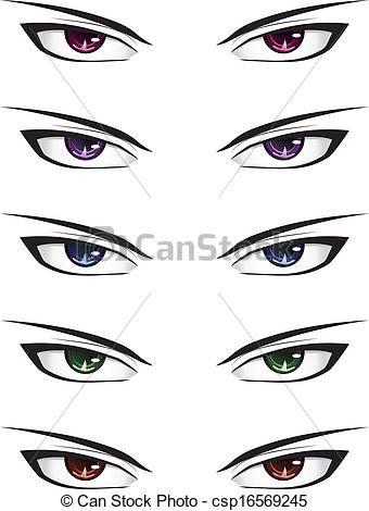 How To Draw Male Anime Eyes : anime, Anime, Csp16569245, Eyes,