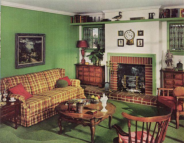 surprising 1960s sitcom living room | Sherwin Suprise in 2019 | Vintage home decor, Retro home ...