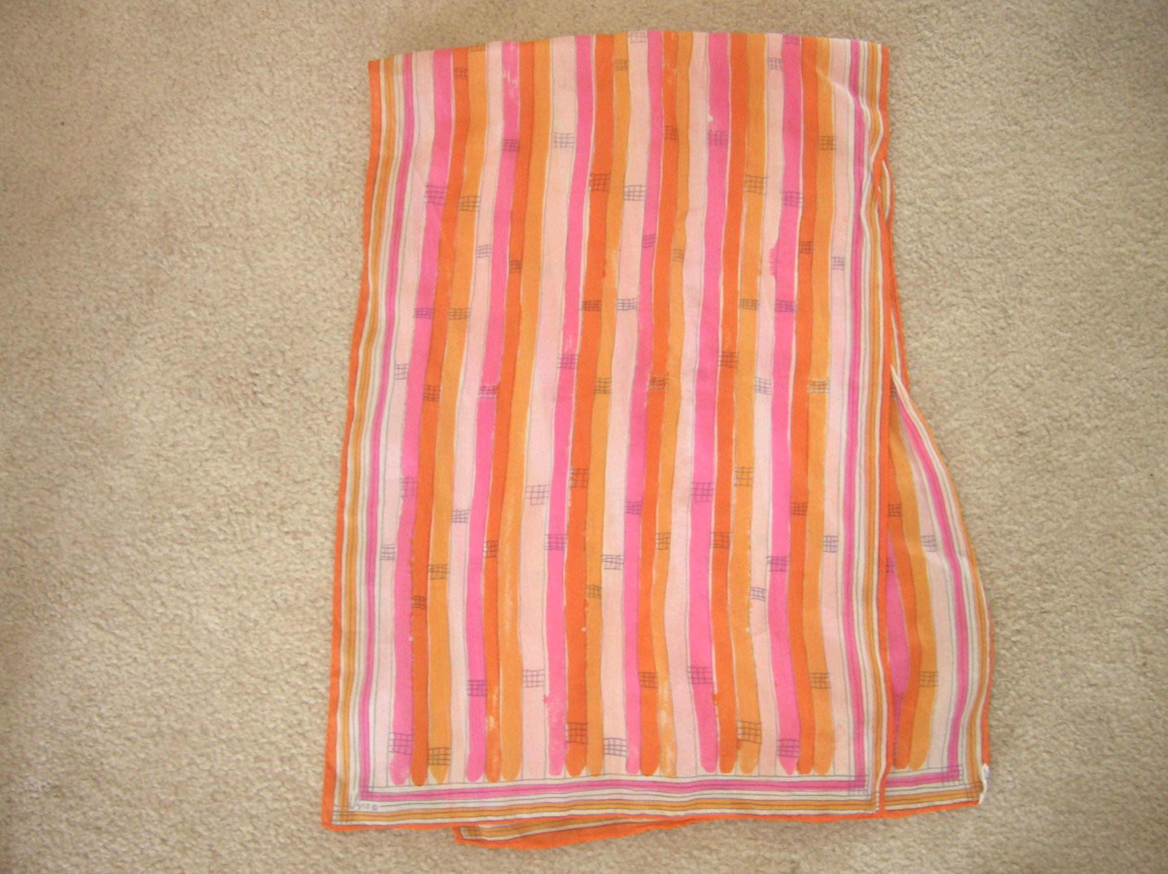 Oblong colorful scarf. Vera