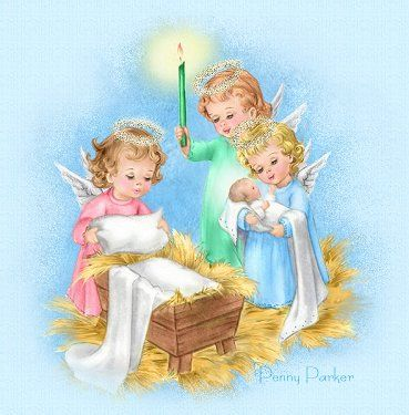 angels caring for baby jesus loss of a baby or child