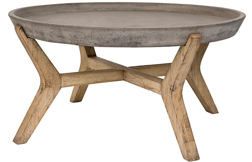 Vinal Outdoor Coffee Table Dark Gray One Kings Lane In 2020 Outdoor Coffee Tables Round Coffee Table Coffee Table