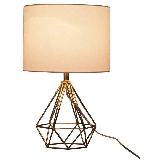 28 49 Sale Target Diamond Wire Table Lamp Brass Base Threshold Geometric Table Lamp Brass Table Lamps Lamp