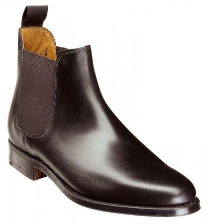 f1a0af73118846 Bingham Black Calf Chelsea Boot Italienische Schuhe