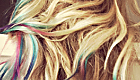 Hair chalking is an easy way to get cool tie-dyed hair like LC  without any serious commitment!
