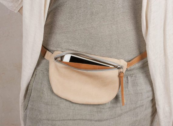 aac0cd70de38 Small Leather Fanny Pack, leather Waist bag, women fanny pack, small ...