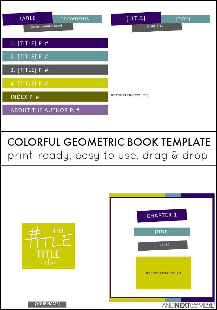 Colorful Geometric Square Book Template Microsoft publisher - publisher resume sample