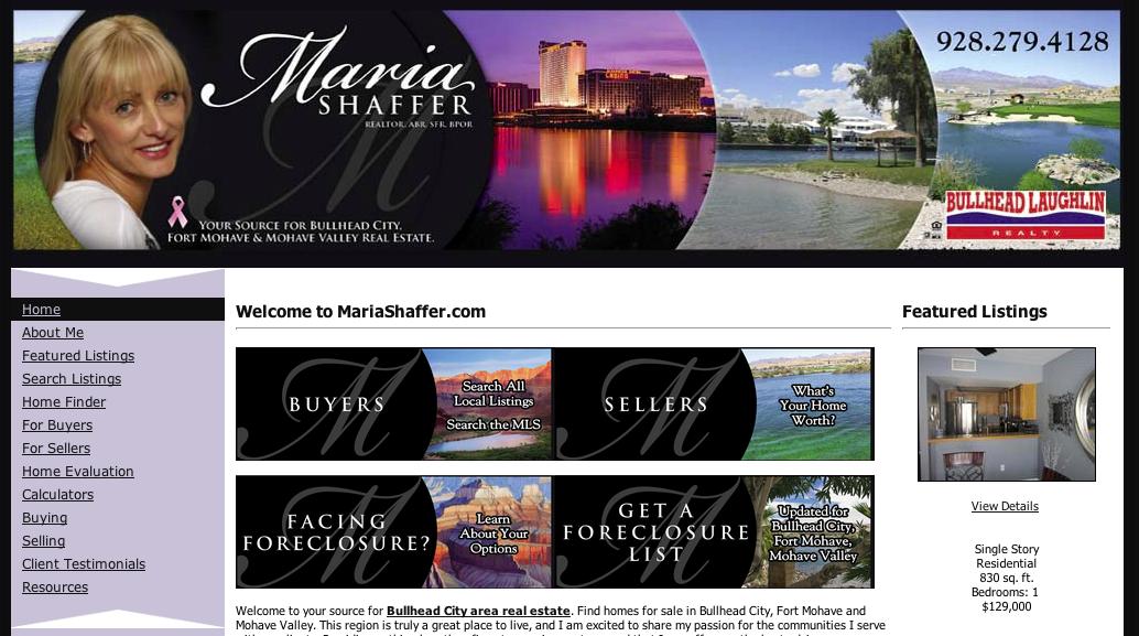 Maria Schaffer | Bullhead Laughlin Realty | Website Updates