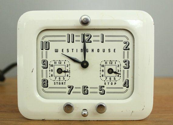 Electric Westinghouse Clock Stove Timer Model Tc 81 Art Deco