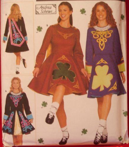 Simplicity 9654 IRISH DANCE Dress Costume Misses sz 6 8 10 12 Sewing ...