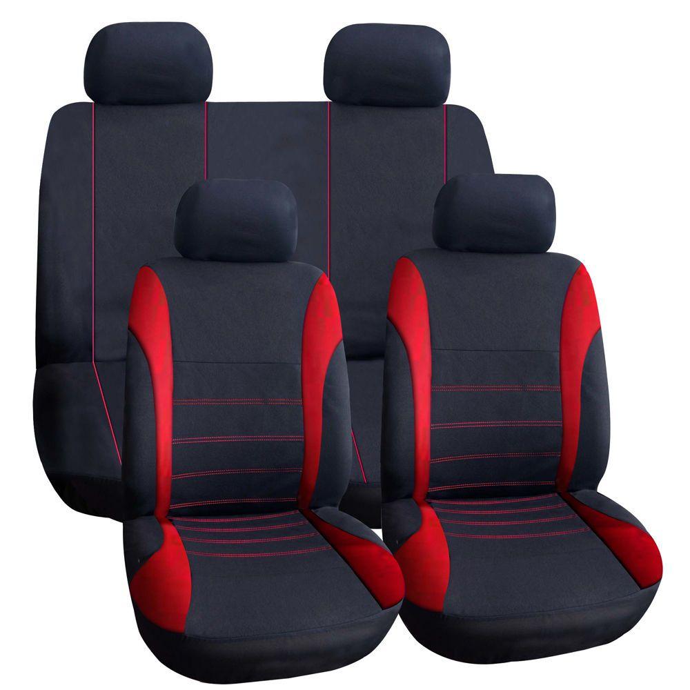 TIROL Car Seat Cover Interior Decor Universal Auto Car Cover Black