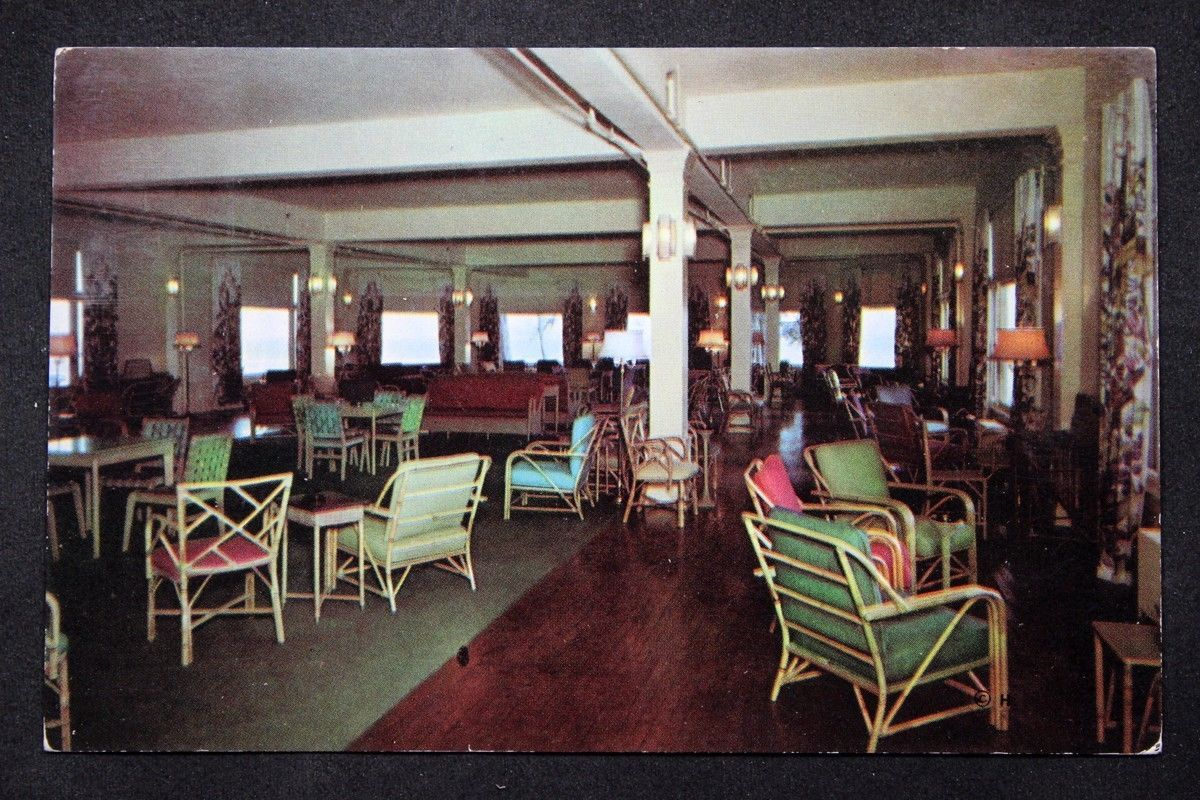 C1955 Postcard Inside Lake Hotel Lounge Yellowstone Park Extraordinary Lake Hotel Dining Room Review
