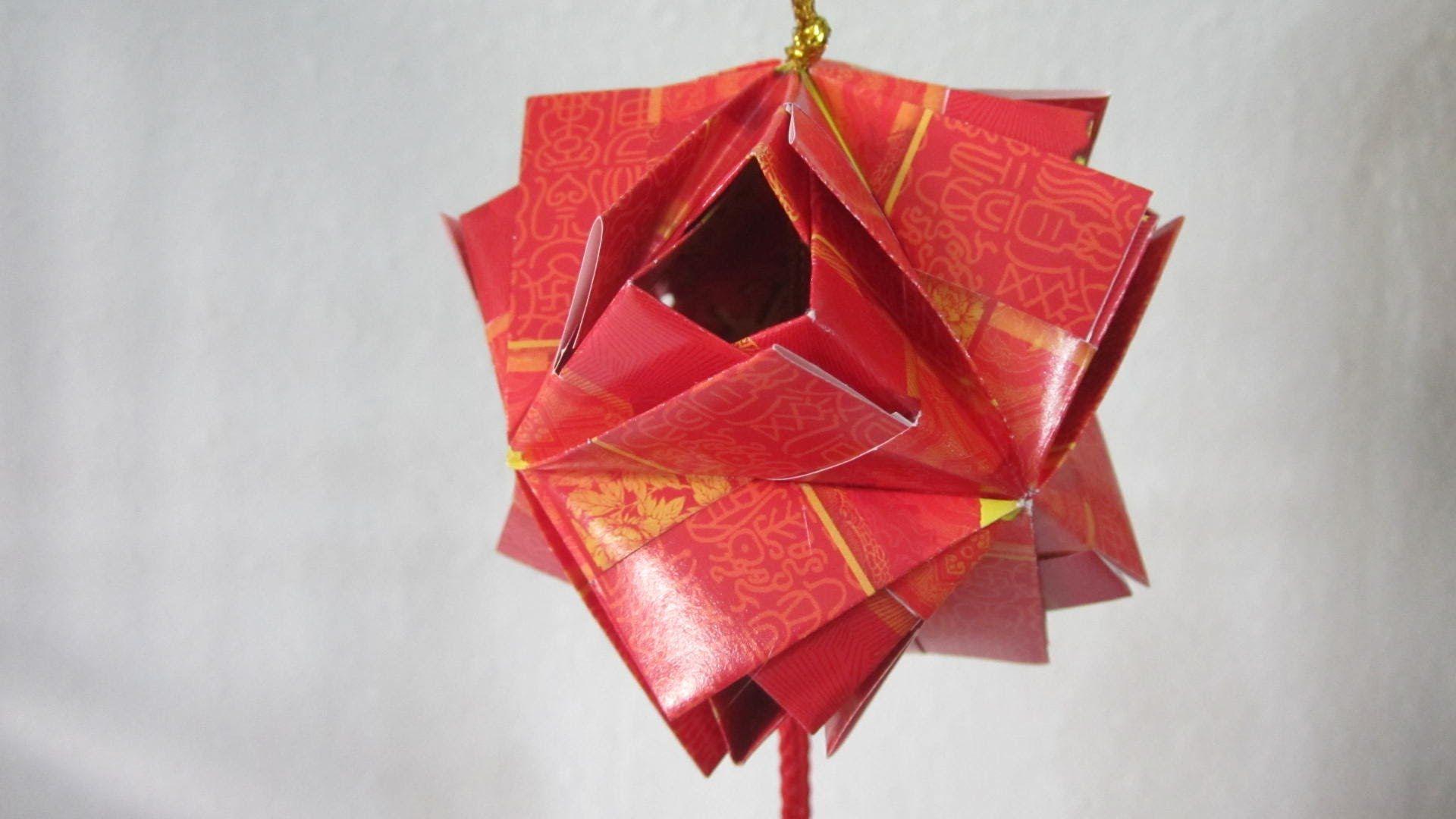 Cny Tutorial No 25 12 Unit Etna Kusudama Creator Ms Maria Sinayskaya Chinese New Year Decorations New Years Decorations Ang Pow