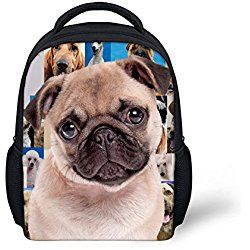 Cut Pet Pug Dog Backpack for Child Girls School Book Bags ...