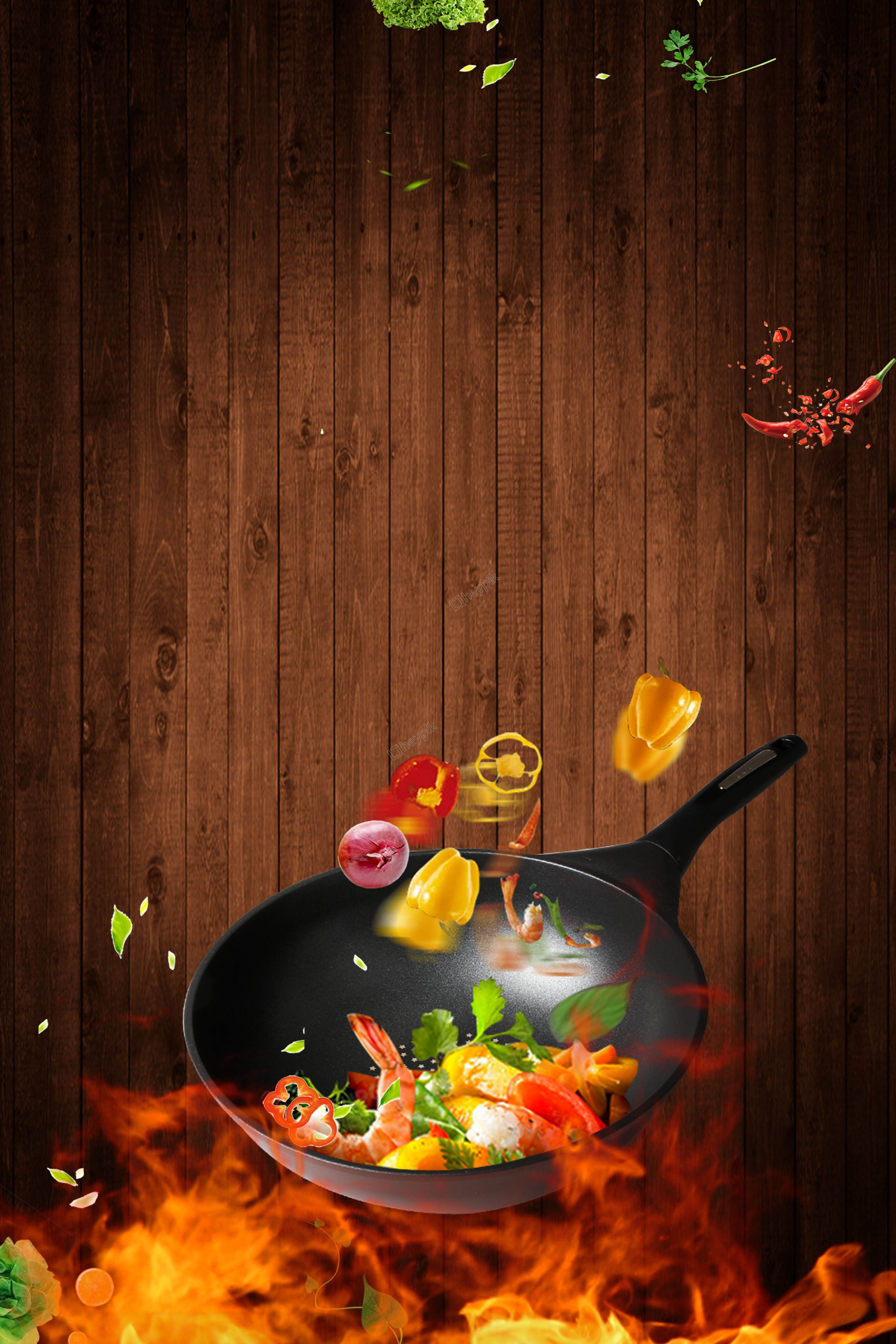 Stir Fried Creative Synthetic Stir Fry Catering Advertising