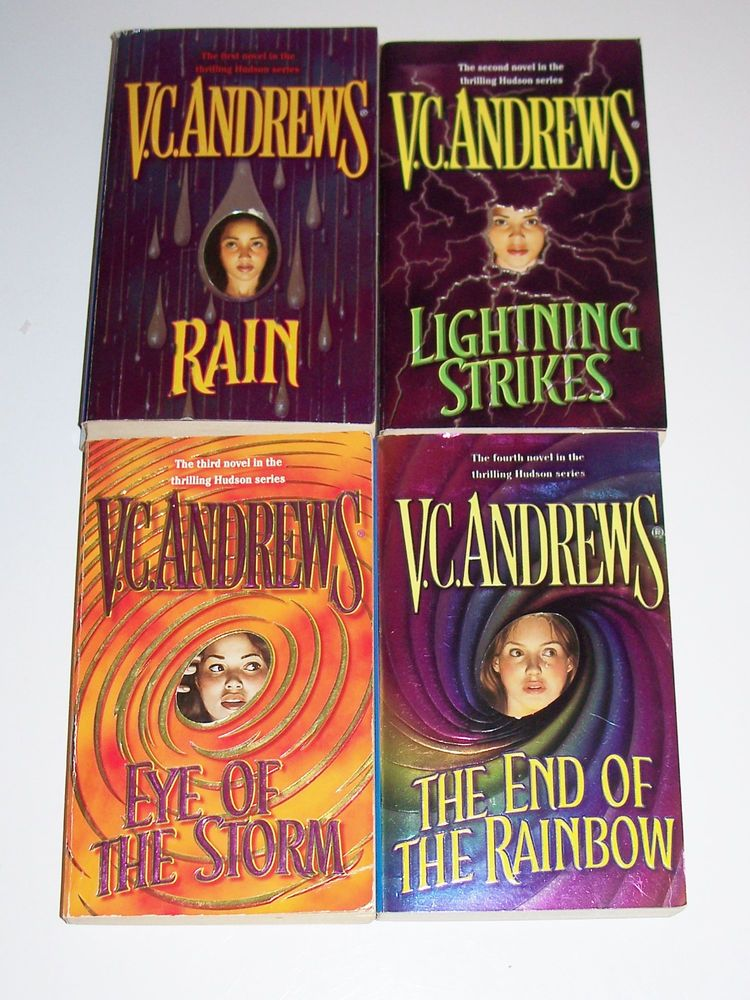 V. C. Andrews 4 PB Hudson Series Rain Lightning Strikes Storm All Keyhole Covers