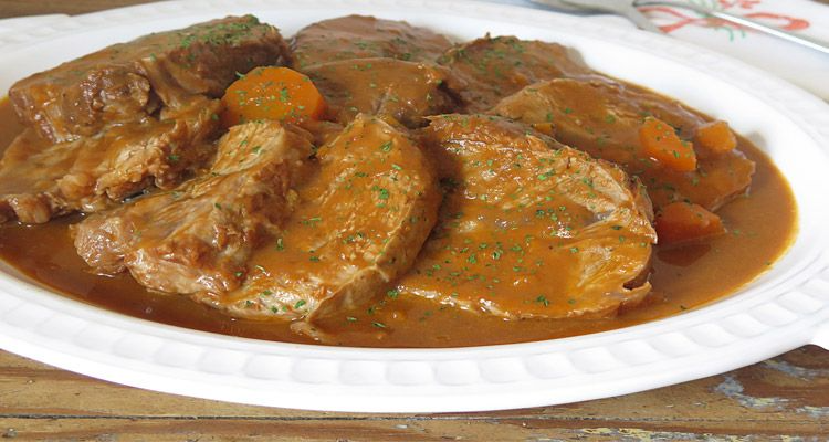 Receta De Redondo De Ternera En Olla Express Delicioso Receta Ternera En Salsa Receta Redondo De Ternera Carne De Ternera