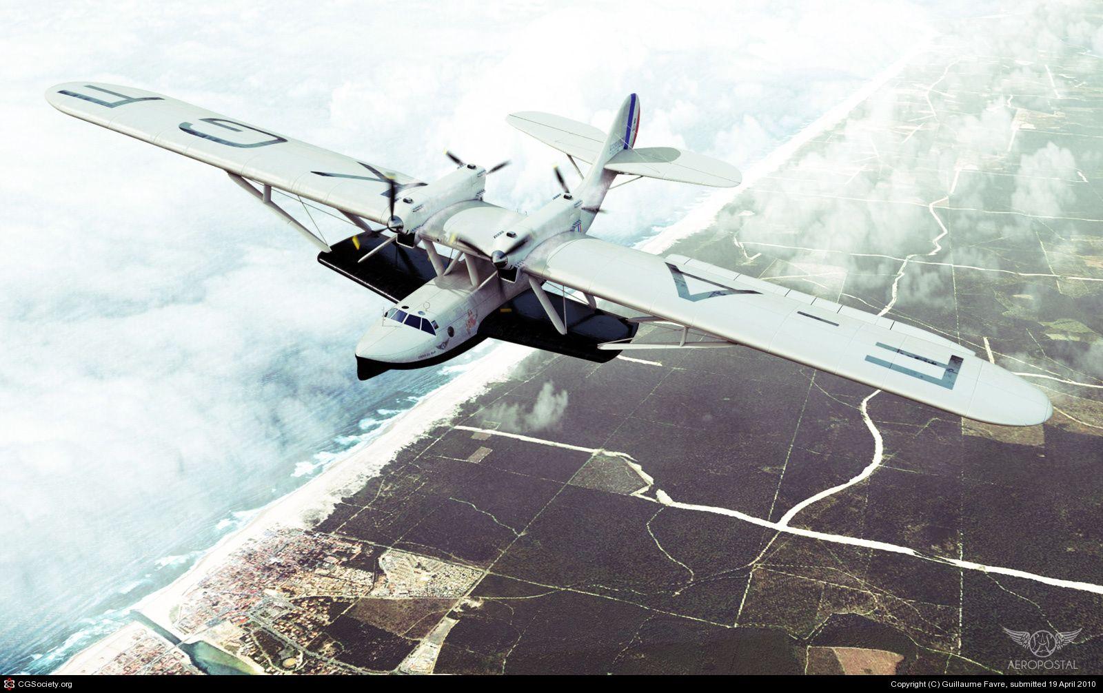 """Latécoère 300 """"La Croix du Sud"""" Bateau volant, Hydravion"""