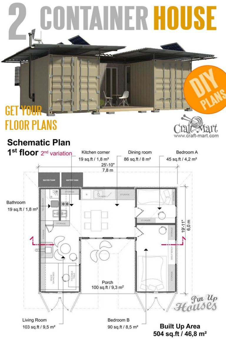 16 Cutest Small And Tiny Home Plans With Cost To Build Craft Mart Container House Plans Container House Tiny House Plans