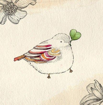 I just love this chubby bird!