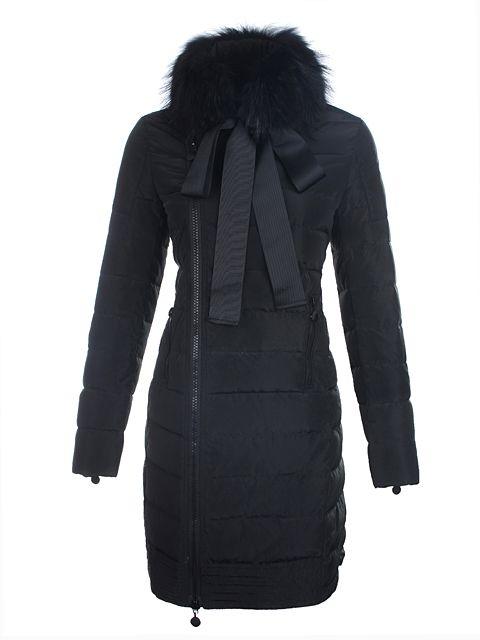 48eb02ecd1dc8 Moncler Mayuko Grosgrain Bow Long Down Coat Black  319
