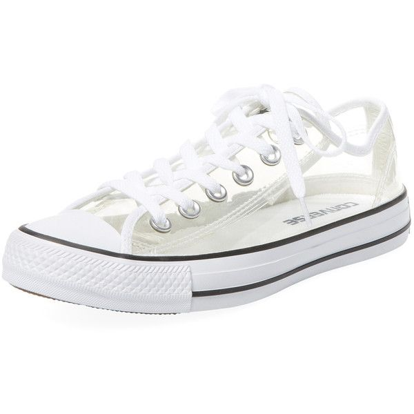 71d211fde762 Converse Women s Chuck Taylor All Star Lo Clear Sneaker ( 75) ❤ liked on  Polyvore featuring shoes
