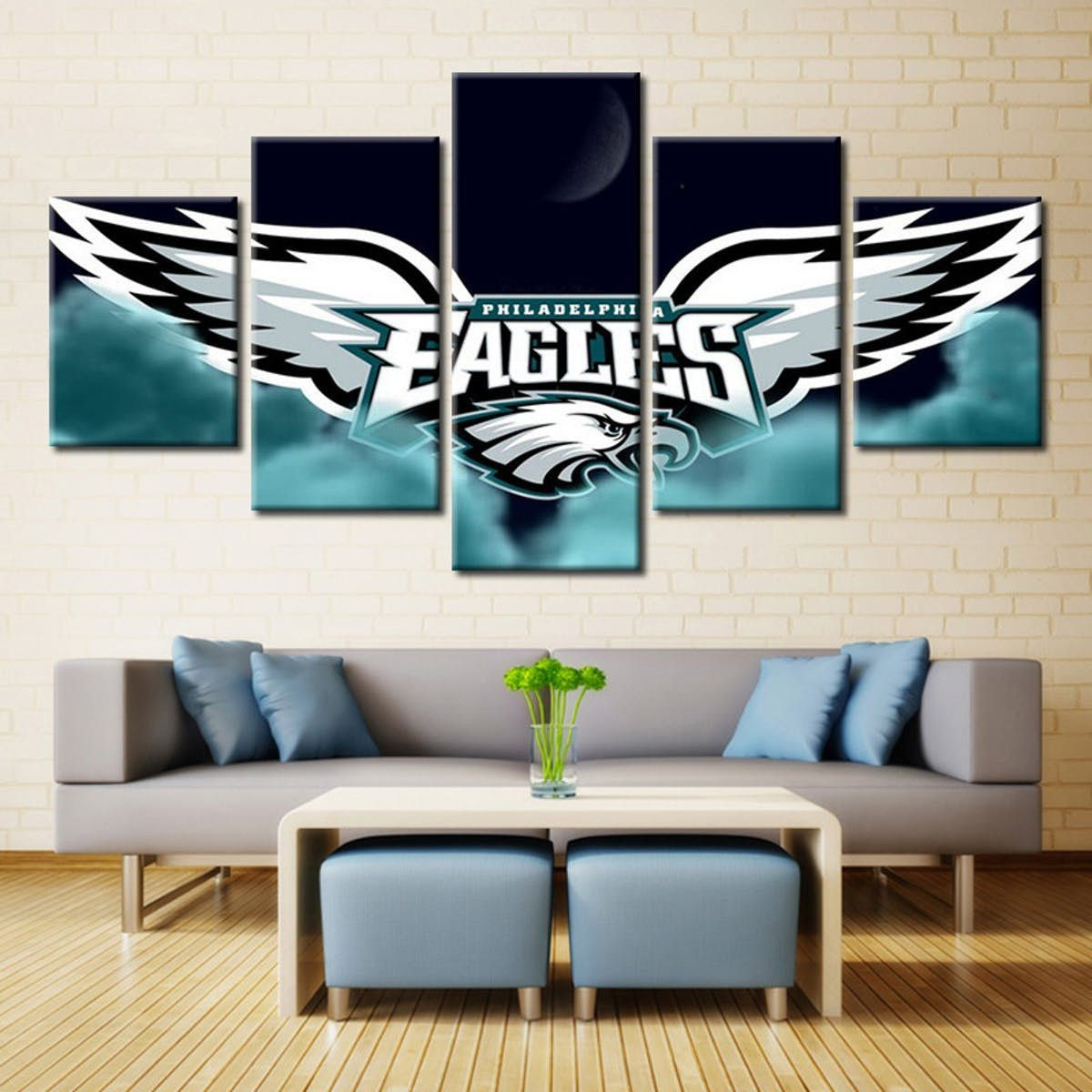 Philadelphia eagles logo with moon products pinterest