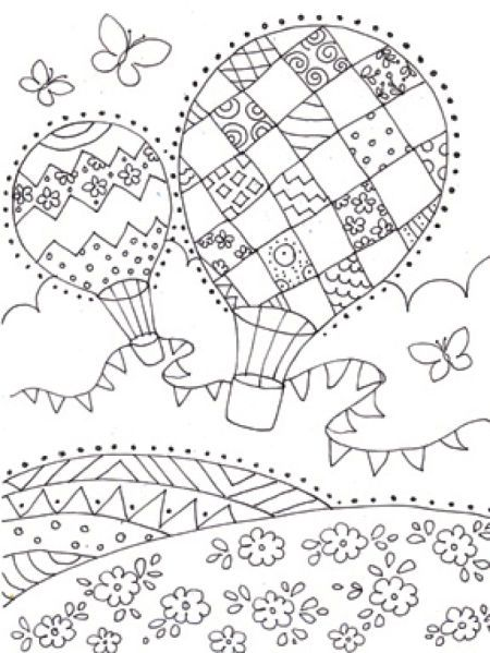 Pin On Hot Air Balloons Colouring Pages