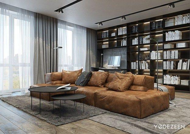 Room · Desert Loft By YoDezeen 01 · Leather Living RoomsSmart DesignLiving  ...
