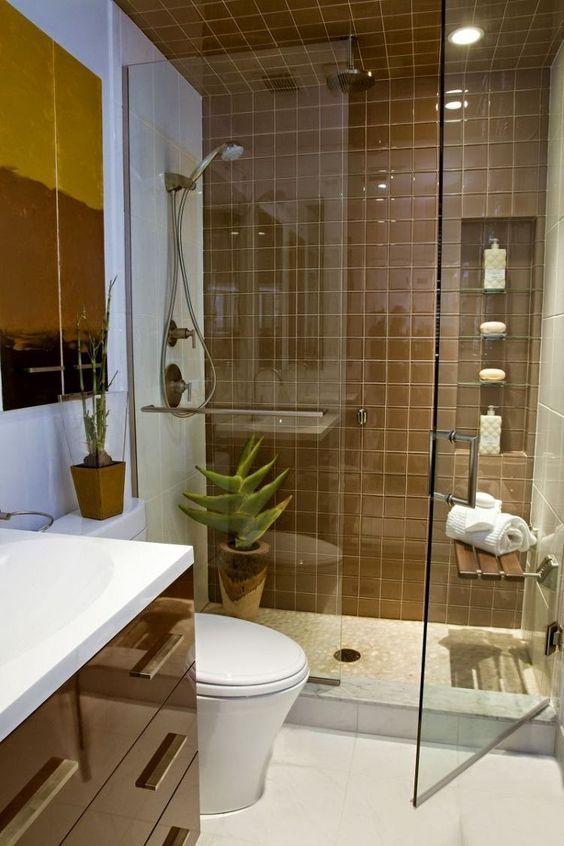 baño moderno pequeño: | decoraciones para my house | Pinterest ...
