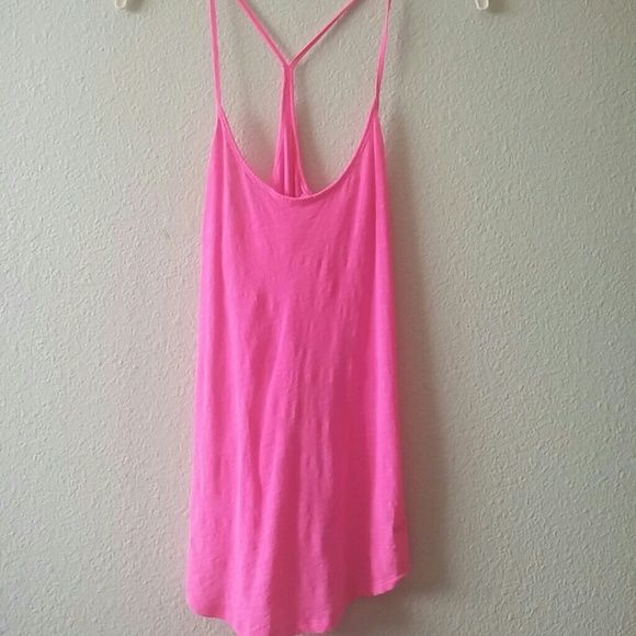 VS Pink Racerback Tank VS Pink Racerback Tank Size Small. Never worn, bright, cute, awesome condition. Victoria's Secret Tops Tank Tops