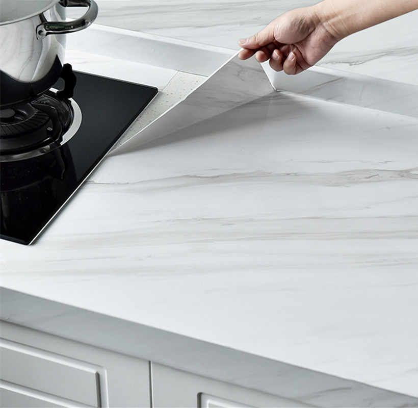 Marble Pattern Self Adhesive Waterproof Vinyl Film PVC Wallpaper for Walls, Countertops, Bathroom Kitchen