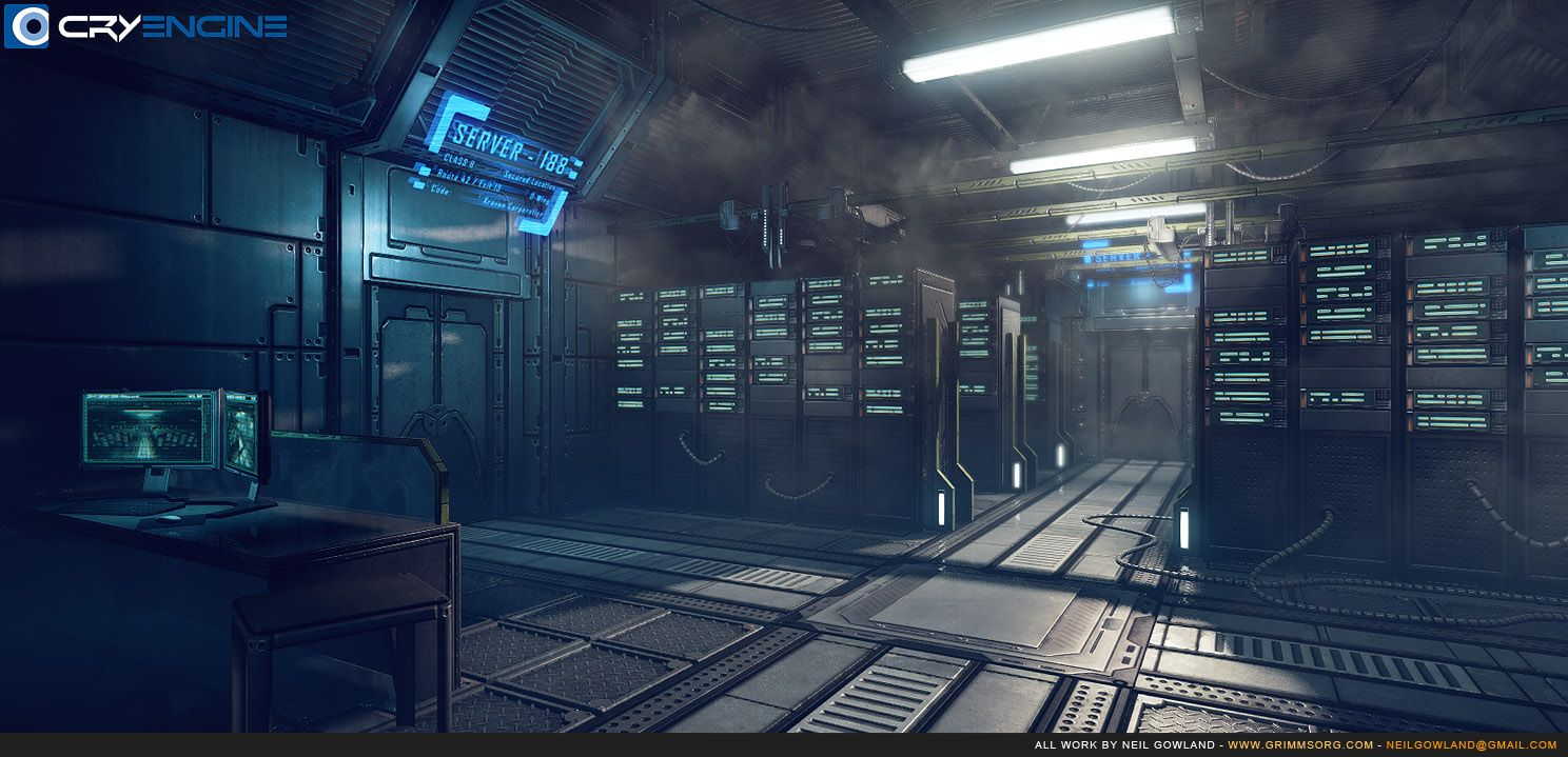 Server Room | Futuristic Only Environment Art | Pinterest ...