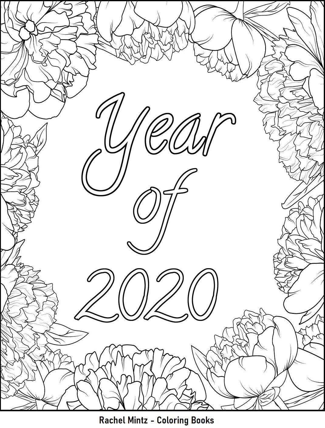 Happy New Year 2020 Home Of Rachel Mintz Coloring Books Coloring Books Happy New Year 2020 Coloring Pages