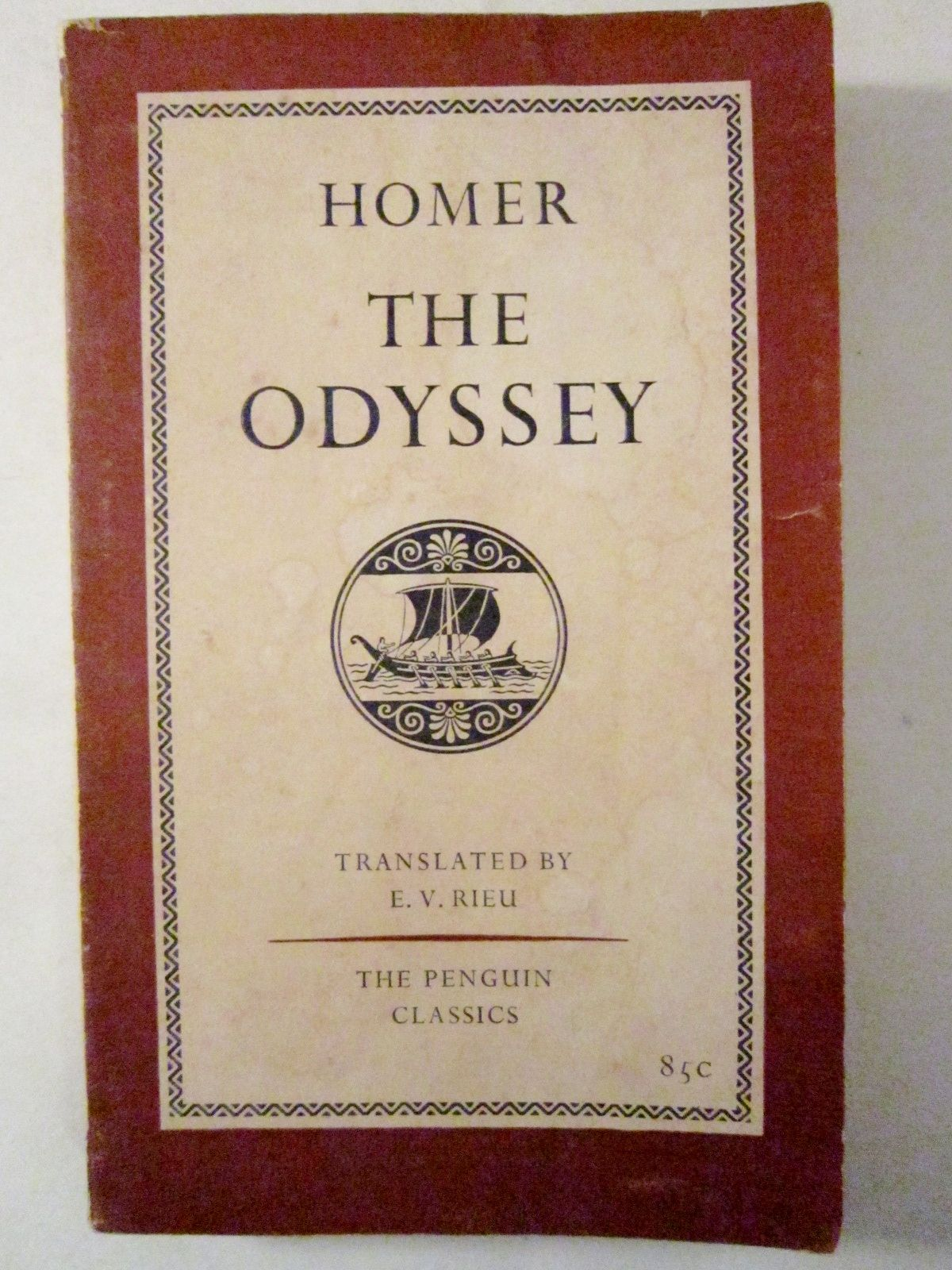 The Odyssey By Homer Translated By E V Rieu 1961 Penguin Classics