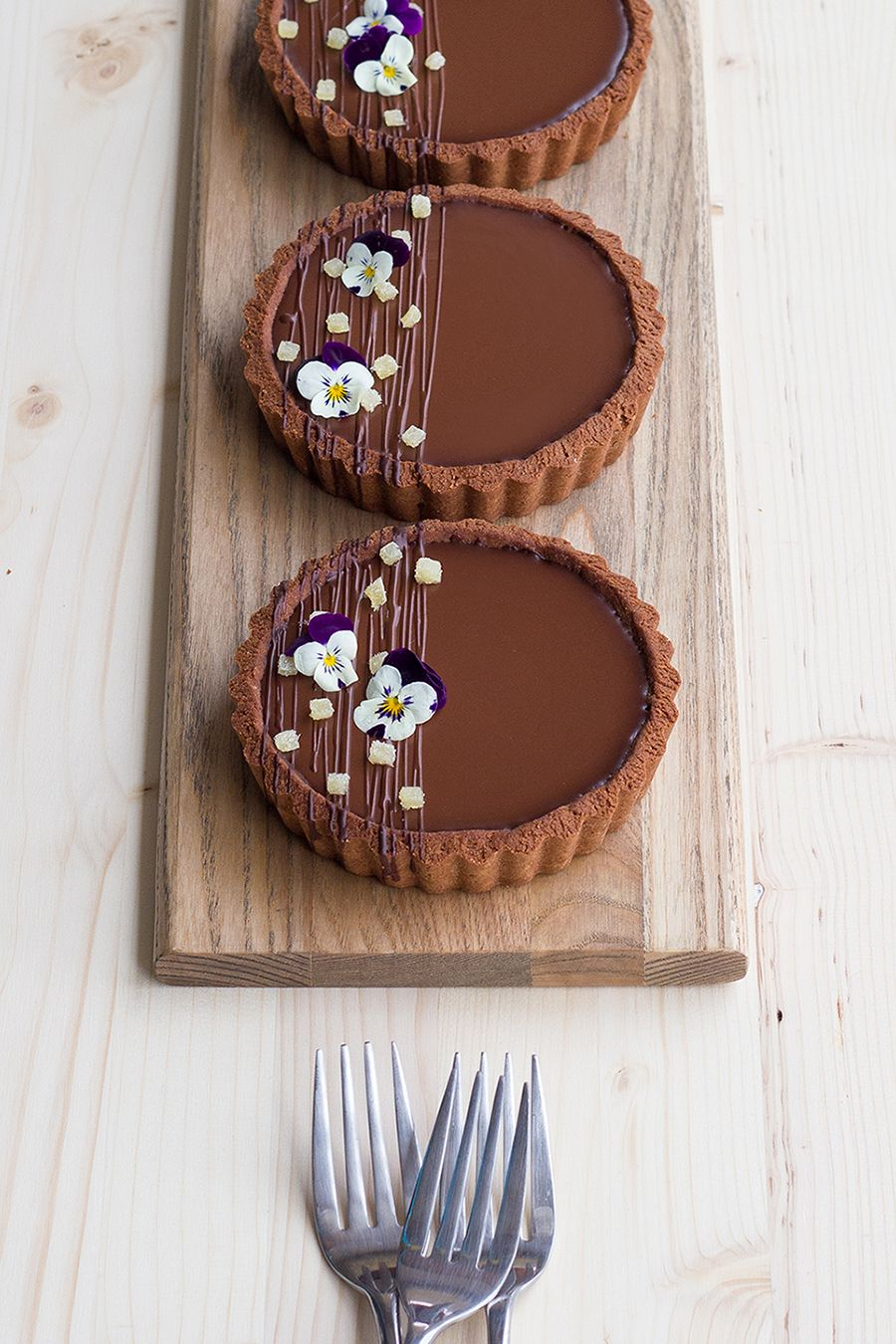 Coconut and Dark Chocolate Tart with Ginger Carame
