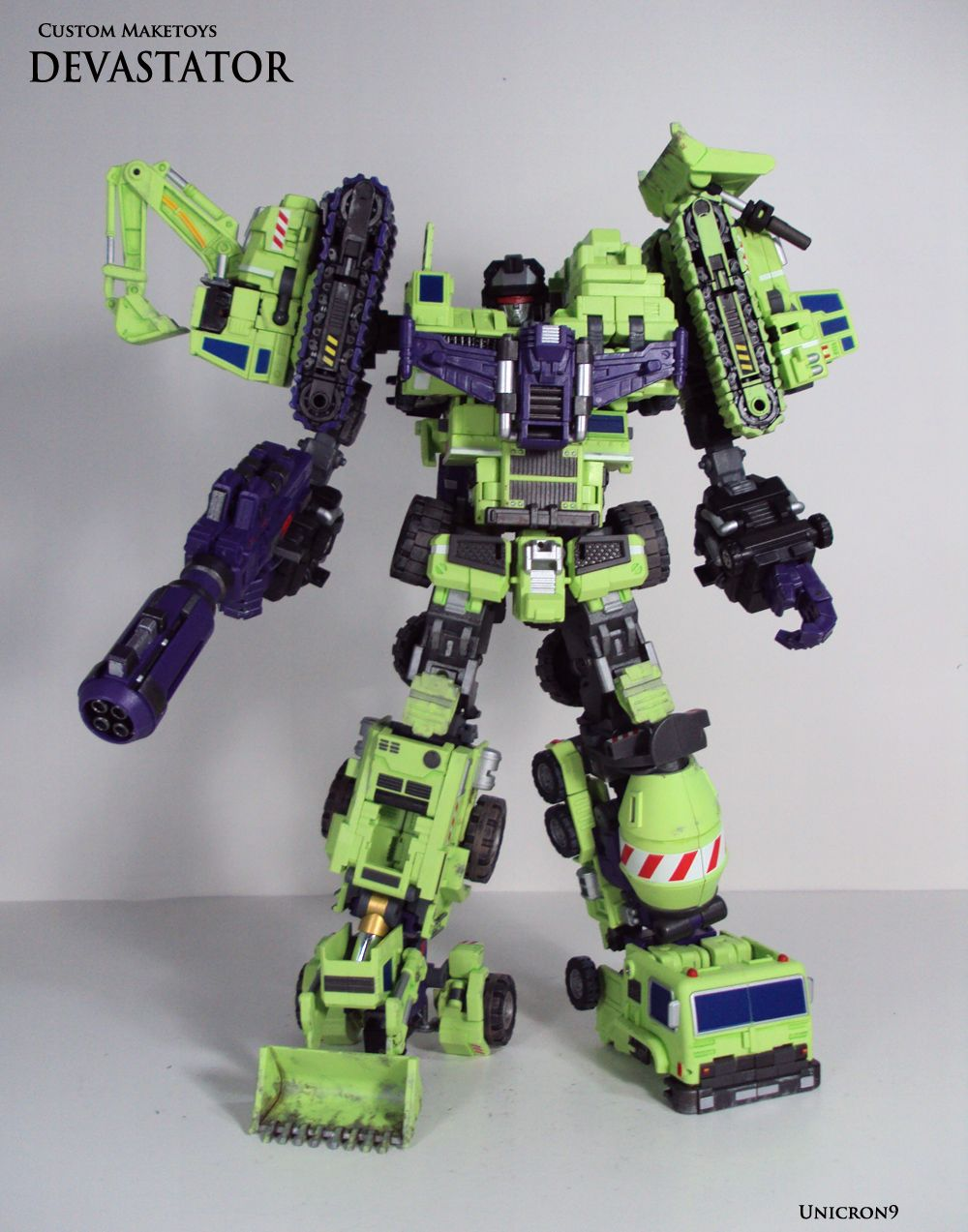 Devastator By Unicron9 On Deviantart This Guy Makes Detailed Custom Giant Type 61 Maketoys Transformers Bonkers In An Awesome Way
