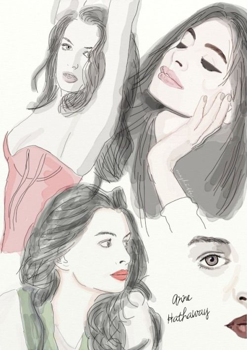 Try to draw Anne Hathaway
