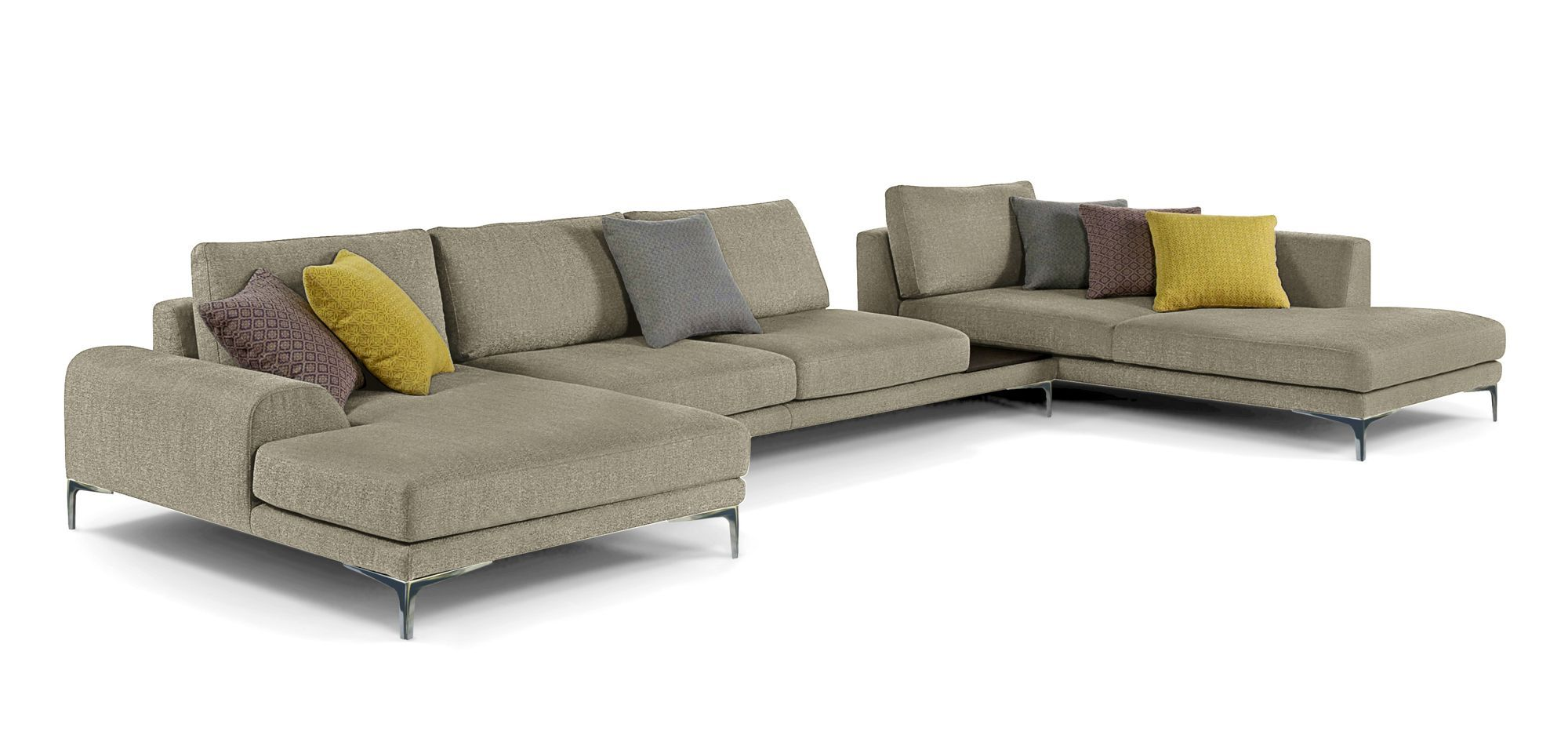 Exclamation Corner Composition Roche Bobois Living Room Sofa Furniture Home