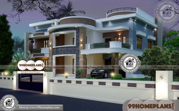 Indian House Elevation Designs 90 Modern Double Story House Plans House Elevation Double Story House Indian Homes Modern house plan india
