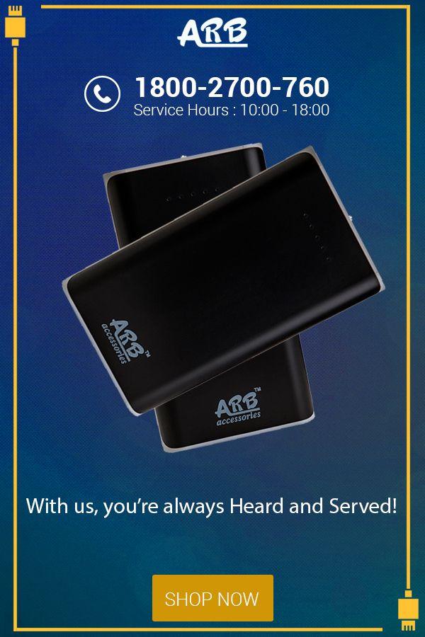 With us, you're always Heard and Served!   #PowerBank #ARBPowerBank #OnlinePowerBank  Visit: - http://arbpowerbank.com/