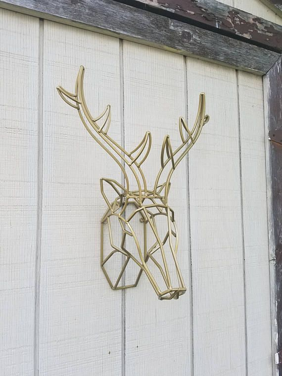 Hey I Found This Really Awesome Etsy Listing At Https Www Etsy Com Listing 517806872 Geometric Wall Decor Deer Head Decor Geometric Wall Geometric Wall Art