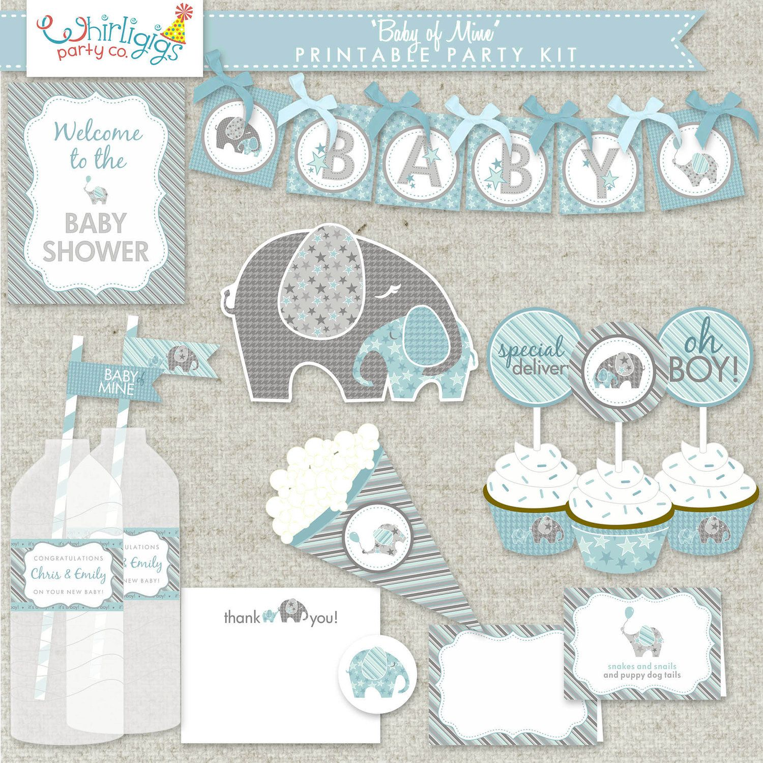 It's just a picture of Slobbery Free Baby Shower Printables Decorations