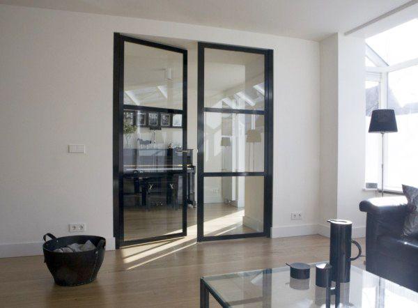 Stalen deur met glas | Woonkamer | Pinterest | Wohnideen, Flure und ...