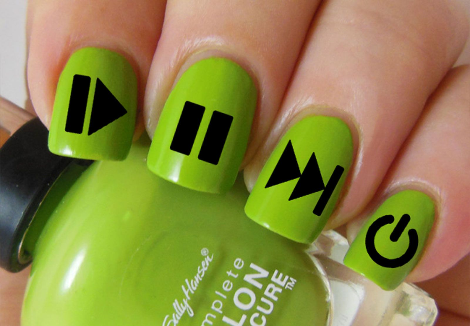 POWER BUTTONS Nail Art - FUNCTIONS (PLB) | North of Salem Nail Art ...