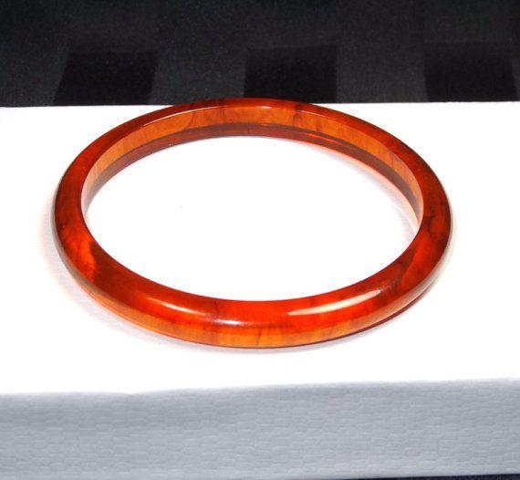 714b06326144d Vintage Rootbeer BAKELITE Bangle Bracelet by SellitAgainVintage ...