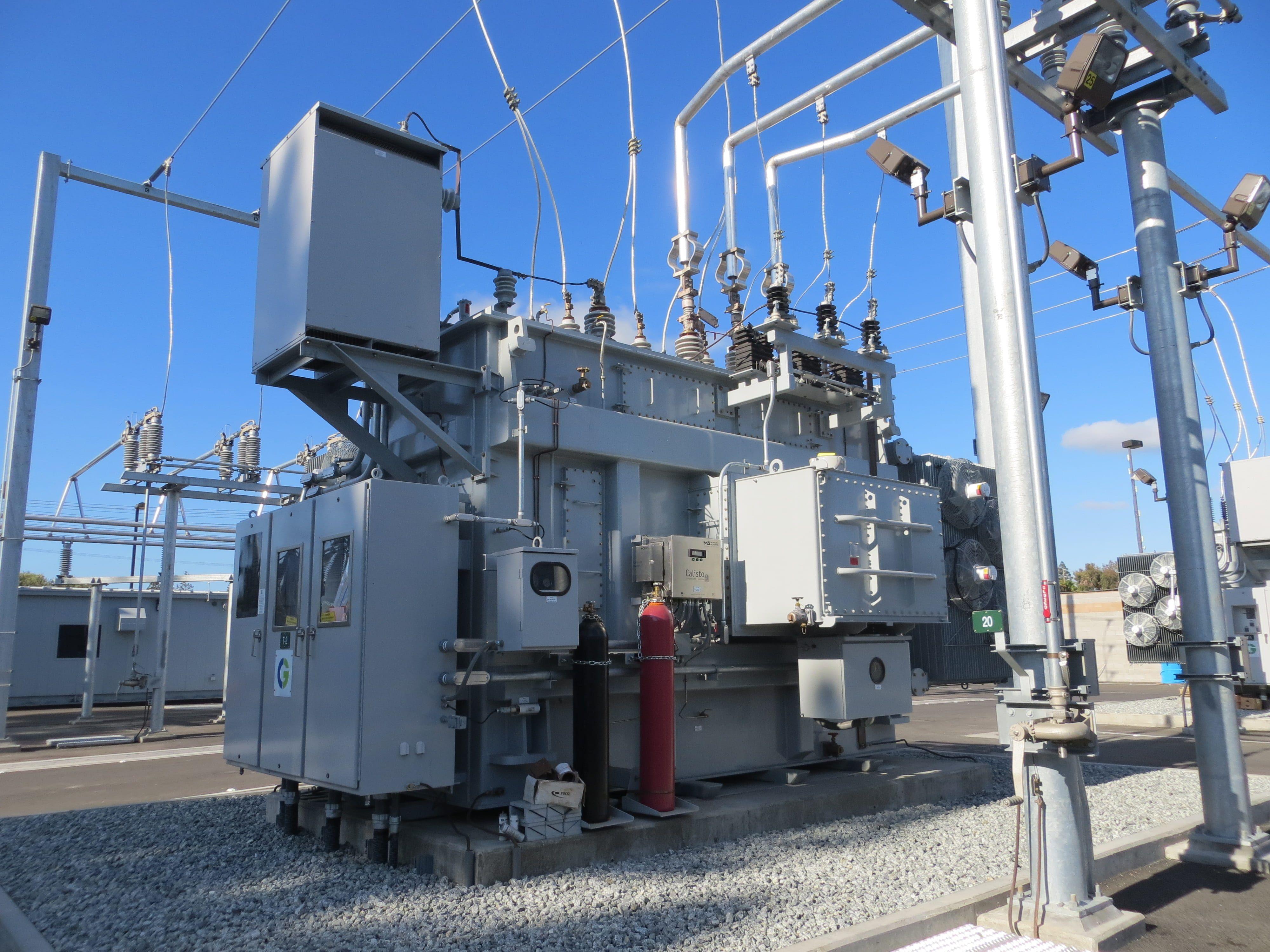 white electric power generator, white industrial machine